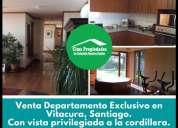 Venta departamento exclusivo en vitacura santiago 3 dormitorios 180 m2