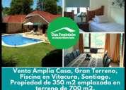 Amplia casa gran terreno piscina vitacura 4 dormitorios 350 m2