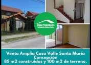 Venta amplia casa valle santa maria concepcion 3 dormitorios 85 m2
