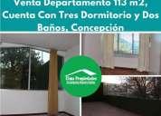 venta departamento frente a plaza independencia concepcion 3 dormitorios 113 m2