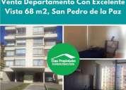 Venta departamento buena conectividad san pedro de la paz 3 dormitorios 68 m2